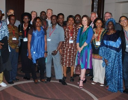 Pen African Network delegates at the PEN International Congress in Tokyo.