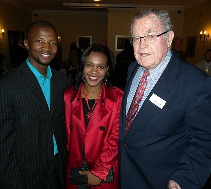 Nqubayomzi and Vuyo Kwankwa and Anthony Fleischer at the 2009 PEN/Studzinksi Literary Award ceremony, Franschhoek. (Image via Books LIVE)