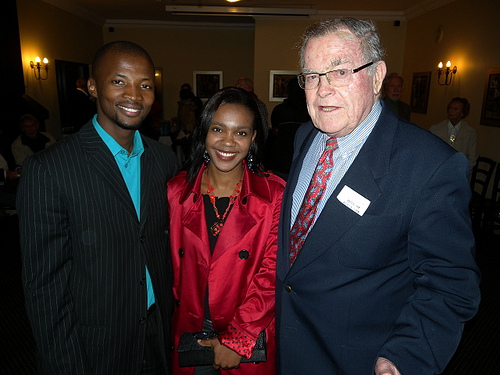 Nqubayomzi and Vuyo Kwankwa and Anthony Fleischer at the 2009 PEN/Studzinksi Literary Award ceremony, Franschhoek. (Image via Books LIVE)