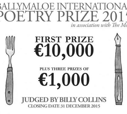 Enter the Ballymaloe International Poetry Prize 2015