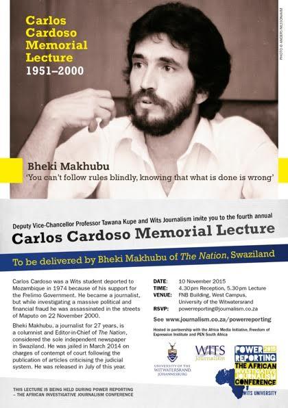 Carlos Cardoso Memorial Lecture