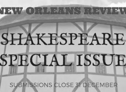 Call for Submissions: New Orleans Review Shakespeare Special Issue