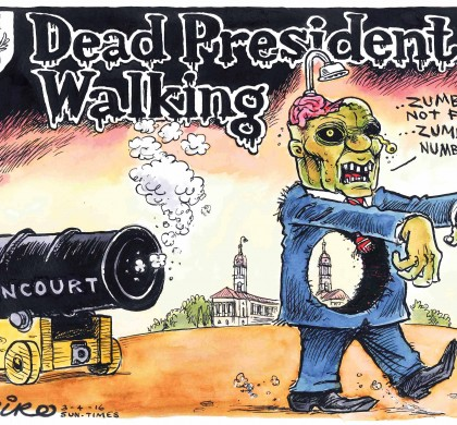 Dead President Walking by Zapiro