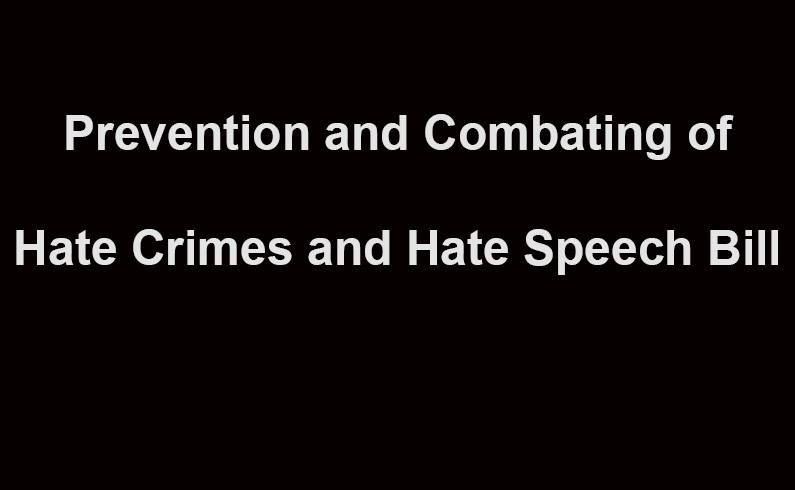 Call for Responses to the Draft Hate Speech Bill