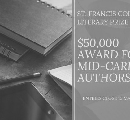 Enter the $50,000 St. Francis College Literary Prize for Mid-Career Authors