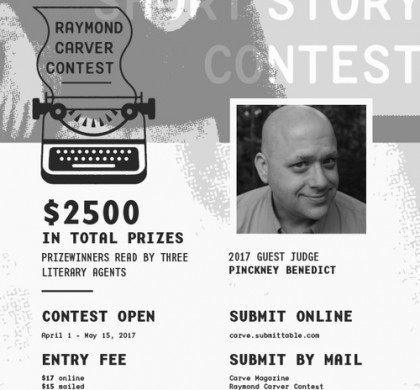 Enter The Raymond Carver Short Story Contest 2017