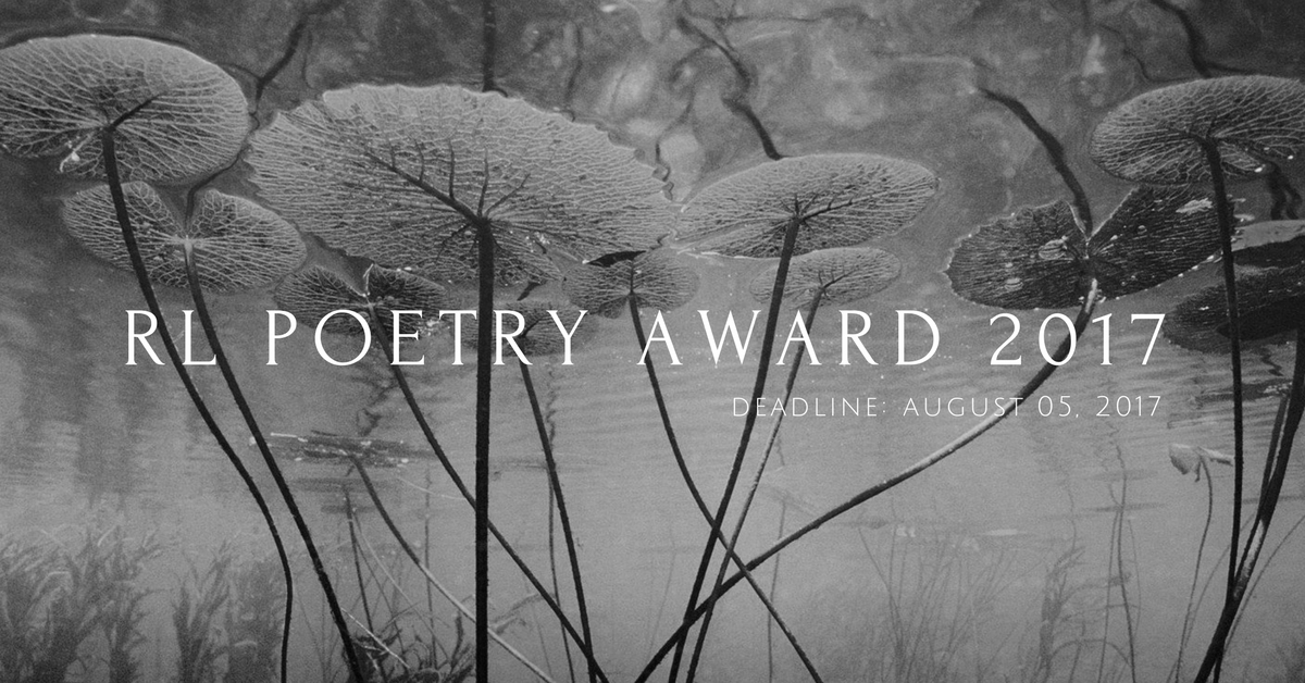 The RL Poetry Award 2017 is Open for Entries