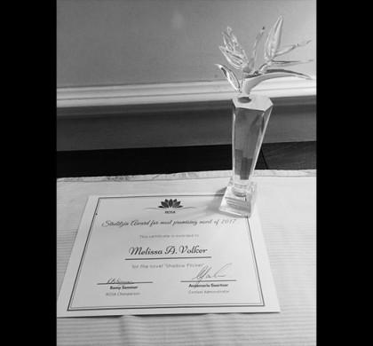 Melissa Volker Wins ROSA's Strelitzia Award for Most Promising Novel of 2017