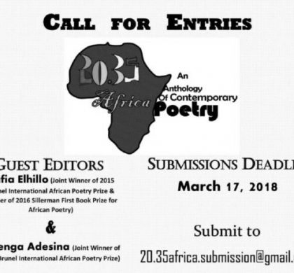 Submissions open for 20.35 Africa: An Anthology of Contemporary Poetry