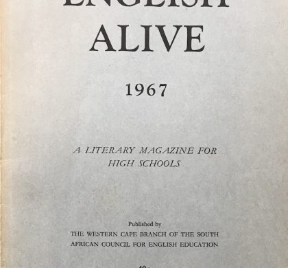 The first ever edition of English Alive. (Image by Nick Mulgrew)