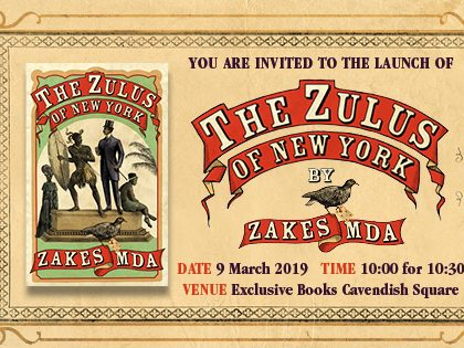 Book launch: Zakes Mda's The Zulus of New York